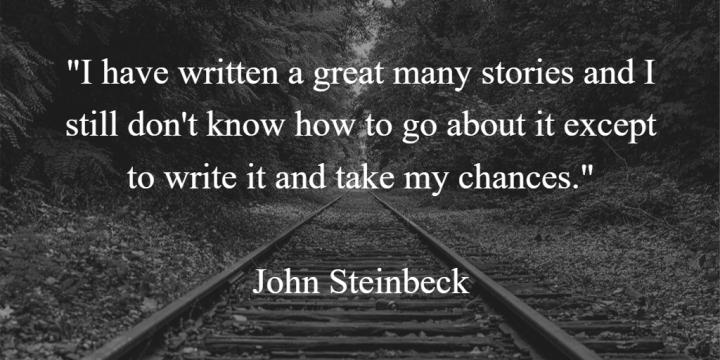 John Steinbeck Writing Quote