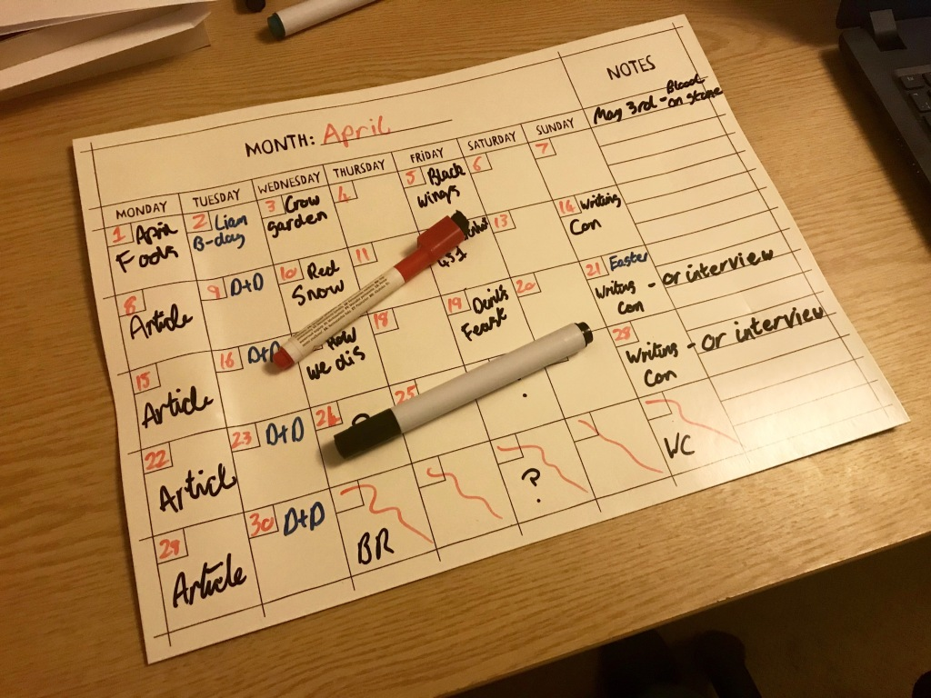 April Plans - Why Words Work